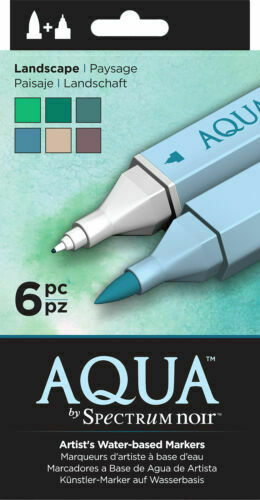 Artists Water Based Markers Crafters Companion Spectrum Noir Aqua Markers
