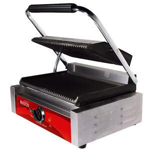 New Avantco Commercial Panini Grill Sandwich Maker Press