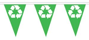 Collection Ici Recycling Polyester Bunting - 5m With 12 Flags - Recycle Here ImperméAble à L'Eau, RéSistant Aux Chocs Et AntimagnéTique