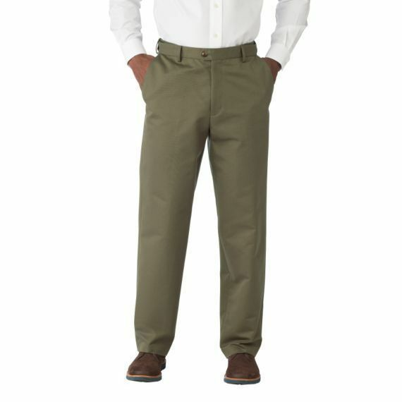 TRAVELSMITH Updated Traveler's Twill Flat-Front Pants 72123