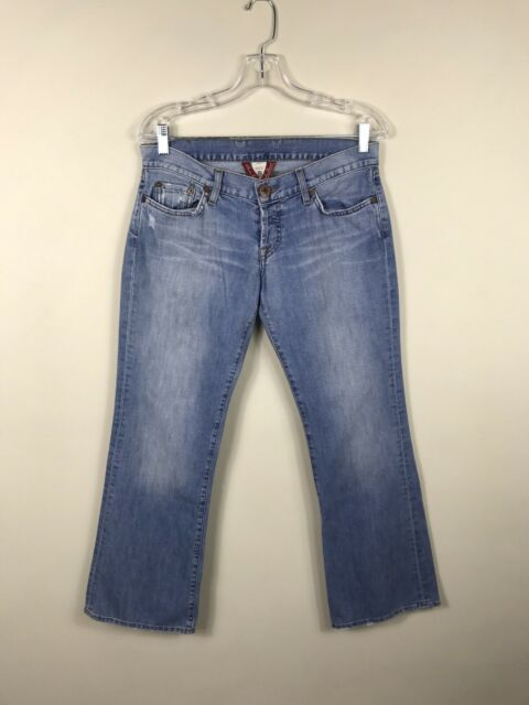 Lucky Brand Women's Lil Maggie Distressed Denim Jeans Size 10/30 Low Rise