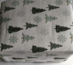 Flannel Sheet Set KING Size 4 Piece 100/% Cotton Heavy Deep Pocket Gray White