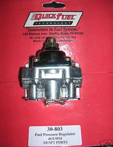 Fuel Pressure Regulator Holley Carburetor Carb Quick Fuel 30-803 4 1//2-9 PSI