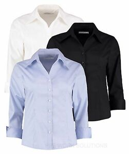 Size 16  Kustom Kit NEW Ladies BLUE Office//casual shirt//blouse  3//4 sleeve