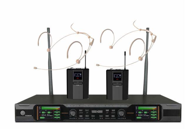 Wireless Headset Microphone For Singers True Diversity Uhf 2 Headworn Mic Beige For Sale Online