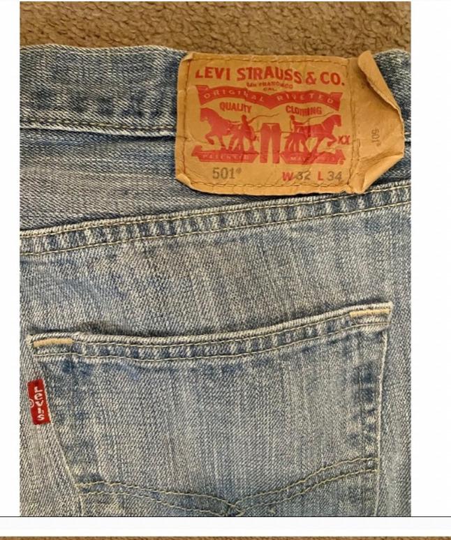 vintage 80s 90s mens 501 Levis button fly - image 3