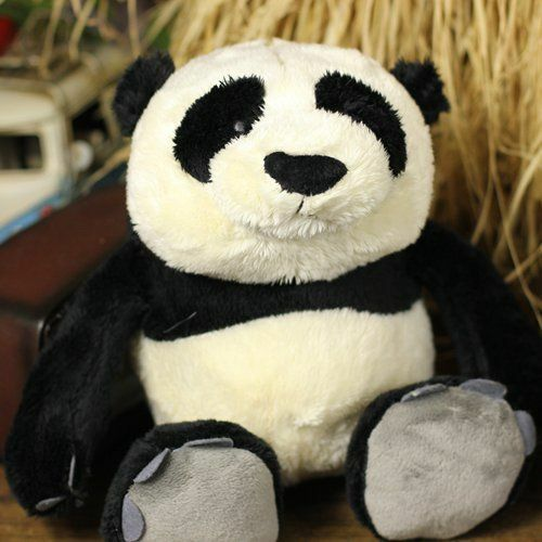 nice plush toy stuffed doll cute soft white black bear panda bedtime story 1pc
