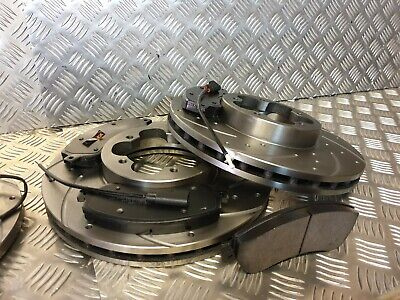 DRILLED /& GROOVED Ford Transit TDCi MK7 LWB FWD RWD Front Brake Discs and Pads