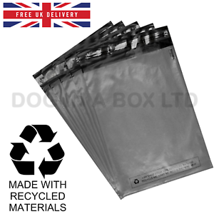 100x-Grey-6-034-x-9-034-Mailing-Bags-Strong-Parcel-Postage-Plastic-Post-Poly-Self-Seal