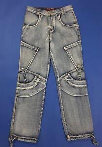 New-man-jeans-uomo-usato-cargo-gamba-dritta-relaxed-W34-tg-48-boyfriend-T4551