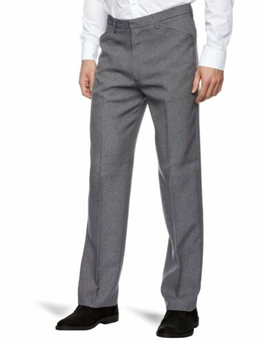 Farah Mid Weave Straight Grey Stain Dark Trousers New Hopsack Anti Leg Men's pZwaSqccg