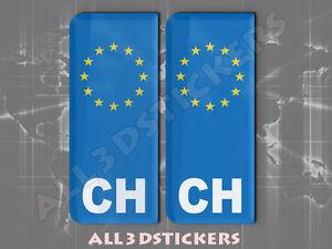 2 x Pegatinas en Relieve 3D Matrícula con Bandera Grecia para tu Coche o Moto