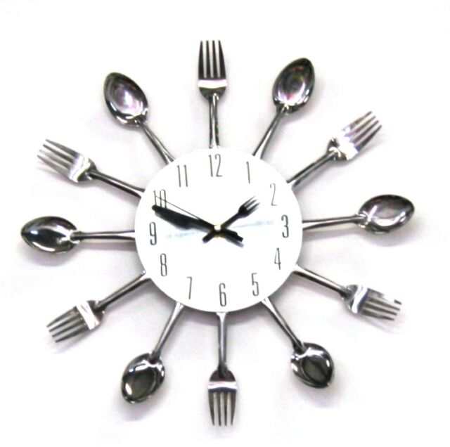 Cutlery Clock Battery Operated Amazing Look Fork
