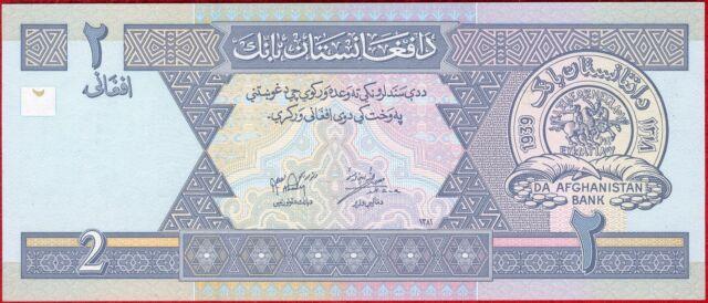 AFGHANISTAN - 2 AFGHANIS - SH1381-2002 P-65 UNCIRCULATED