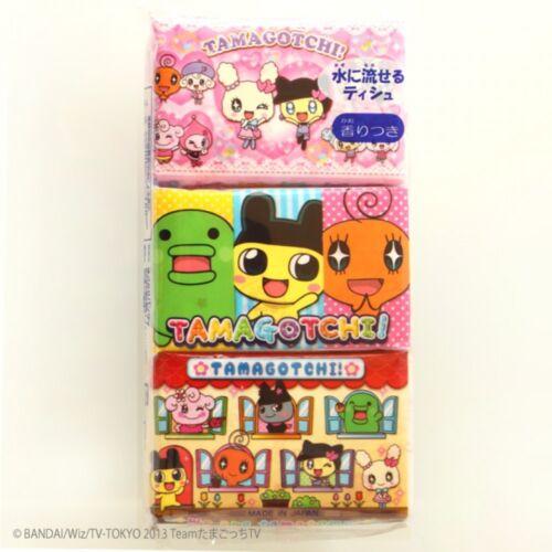 Japanese Kawaii Tamagotchi Mini Pocket Tissue 6 Pack Girls Version School !!