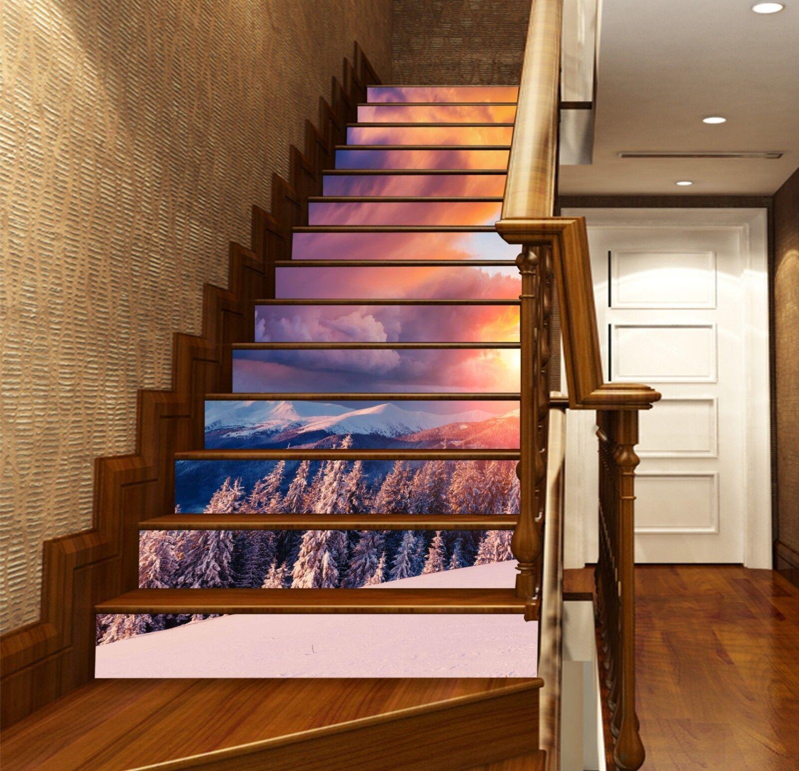 3D Sunset Hills 4 contremarches Décoration Photo Murale Autocollant Vinyle Papier Peint UK