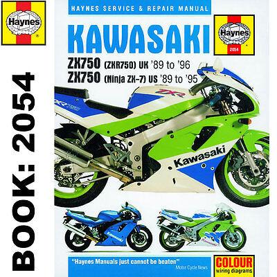 Kawasaki ZX750 Ninja ZX-7 ZXR750 Fours 1989-96 Haynes Workshop Manual
