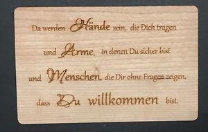 Taufe Karte.Details Zu Grußkarte Aus Holz Karte Geschenk Da Werden Hände Sein Baby Geburt Taufe