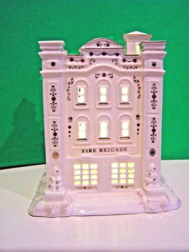LENOX MISTLETOE PARK FIRE HOUSE BRIGADE Village Treasures series NEW in BOX