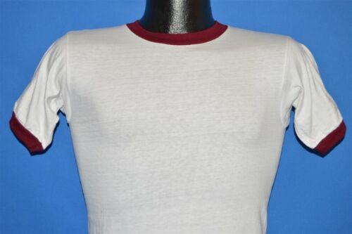 vintage 60s CHAMPION WHITE MAROON BLANK COTTON SPO