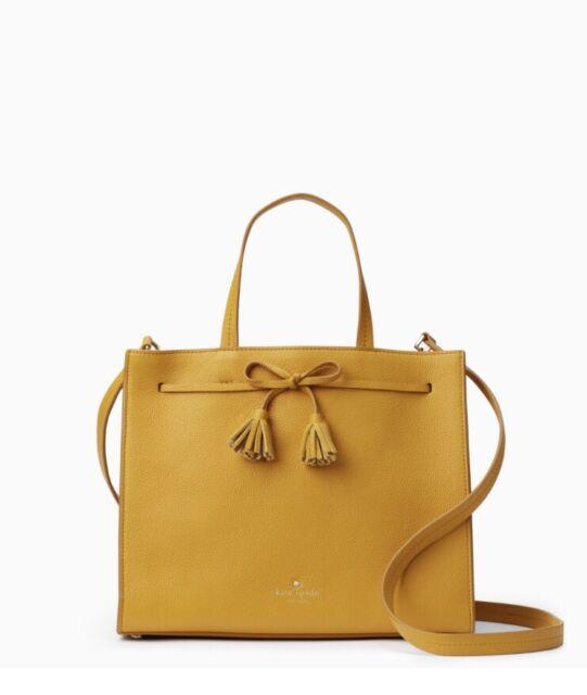 Nwt Kate Spade Hayes Street Isobel Satchel Saffron Bow Tote Handbag