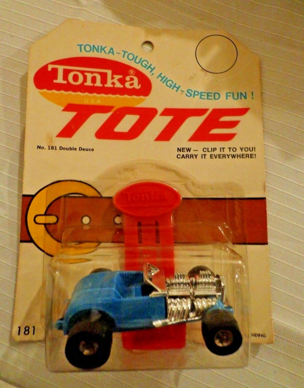 Tonka Tote Double Deuce in bluee NOC  HTF  Punched Card