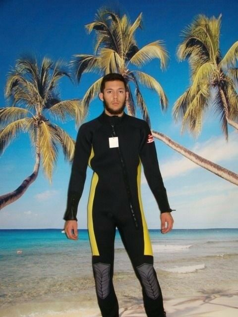 Wetsuit 7MM Front Zip up to 6X Plus  Size Stretch Series Scuba 8850XS BL Yellow  shop online today