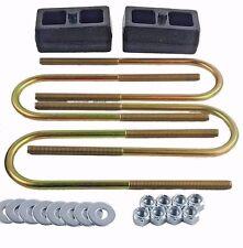 """Ranger Lift Kit Rear 2"""" Cast Steel Blocks & U Bolts 1998 - 11 Ford Truck 4x4 4x2"""