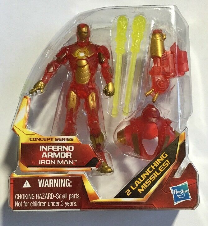 Inferno Armor Armor Armor Iron Man Figure From The Iron Man Concept Series 406cd1