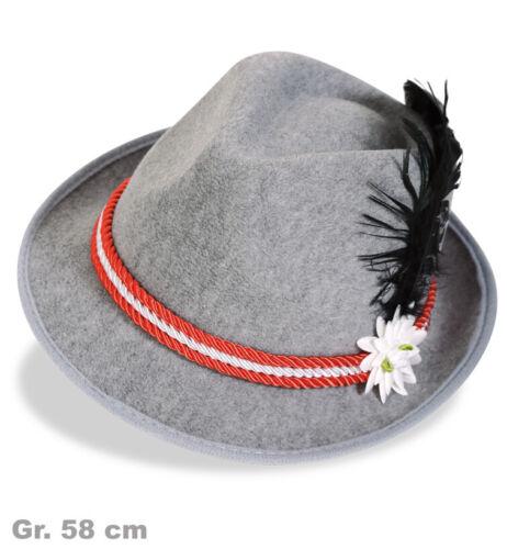 Bayernhut Seppelhut Herrenhut Bayern Oktoberfest Hutband rot