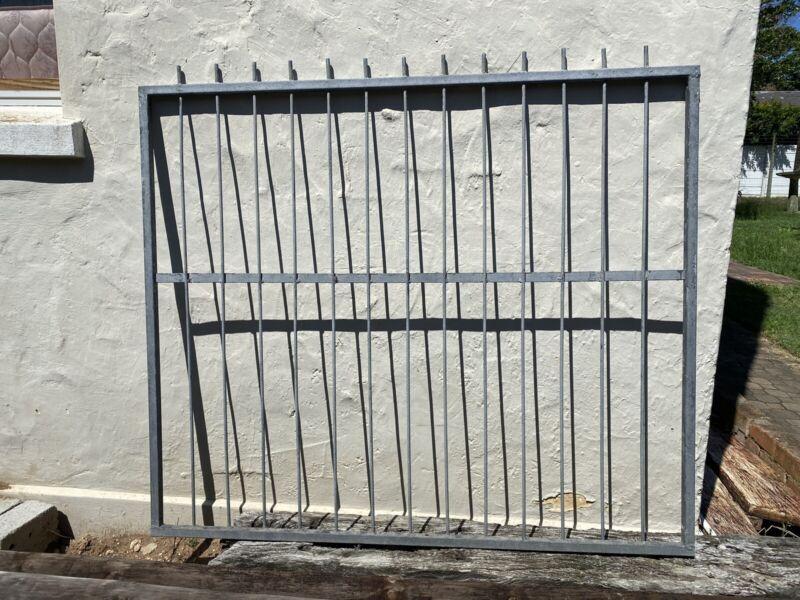 Galvanised fence