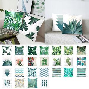 Tropical-Feuilles-Housse-de-Coussin-Taie-d-039-oreiller-Cushion-Cover-Canape-Decor