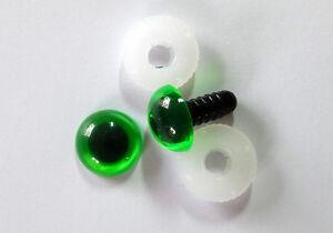 nach EN 71-3 Sicherheitsaug<wbr/>en 6 PAAR GRÜN mit Pupille 12 mm aus Kunststoff