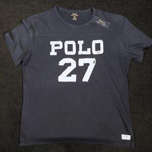 New-Ralph-Lauren-Polo-27-Football-Rugby-Inspired-Custom-Slim-Fit-T-Shirt-XL