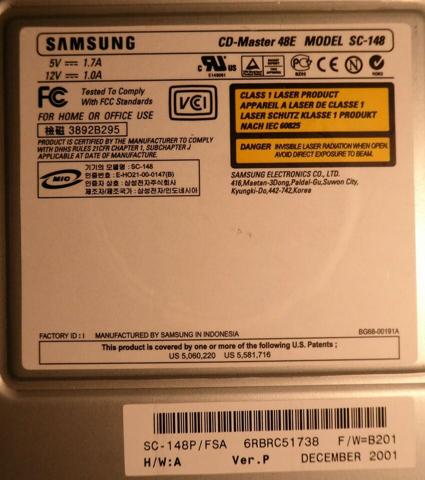 CD-ROM drev, Mitsumi, Samsung