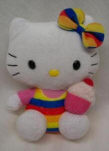 TY-Sanrio-HELLO-KITTY-WITH-CUPCAKE-5-034-Plush-STUFFED-ANIMAL-Toy
