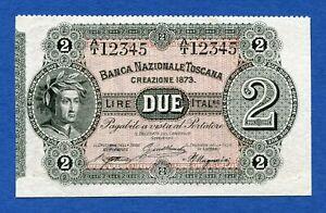Banca-Nazionale-Toscana-2-Lire-Specimen-1873-R3-Bradbury-Wilkinson-pS753-Sup