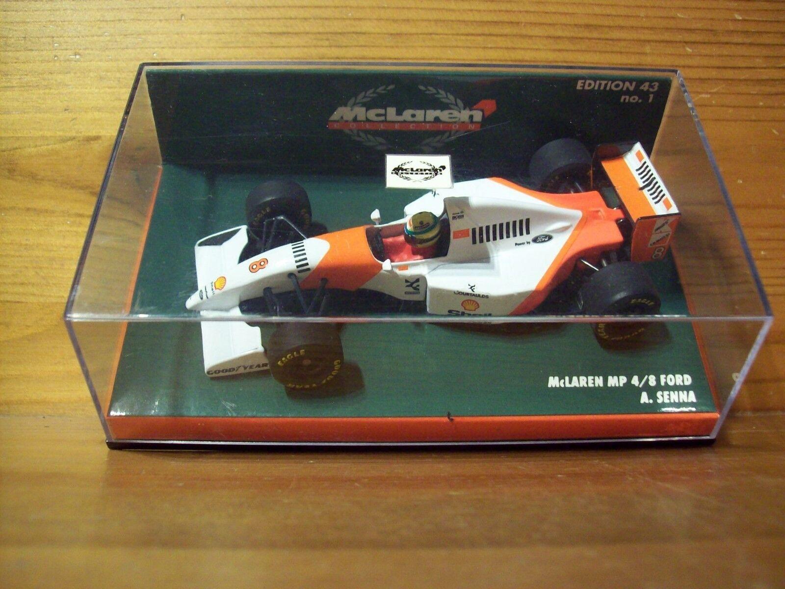 1 43 McLaren MP4 8 edición Ford Ayrton Senna 1993 McLaren Nr 01