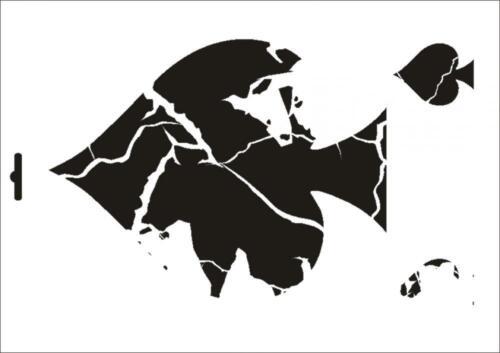 Wandschablone Maler T-shirt Schablone W-347 Vintage Pik ~ UMR Design