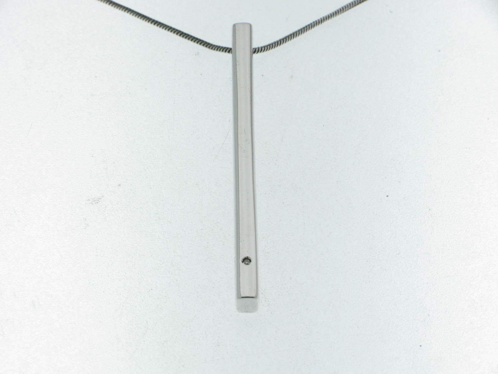 PIANEGONDA collana in silver pendente fiammifero corto e diamante new
