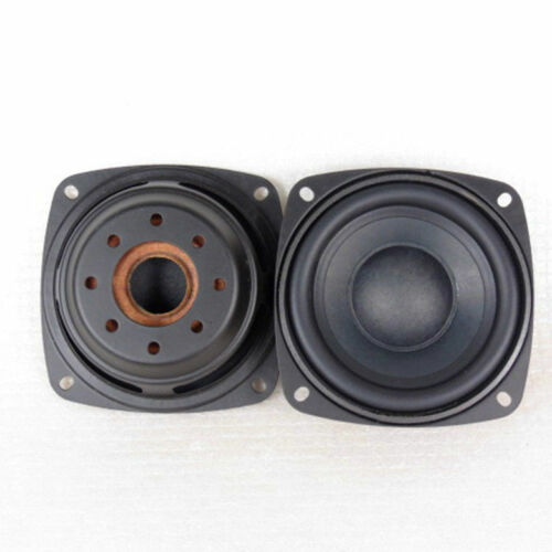 2pcs 3.5/'/' inch 93x93mm Square Woofer Speaker Passive Radiator Auxiliary Bass