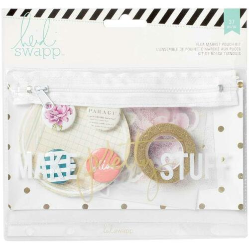 Heidi Swapp WANDER Flea Market Pouch Kit #1 Make Pretty Stuff 27p Planner 369302