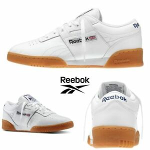 bfad3813fc6e7f Image is loading Reebok-Classic-Workout-Low-Running-Shoes-Sneakers-White-