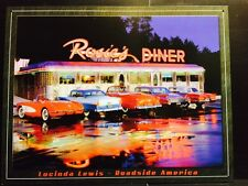 Rosie's Diner 5 CLASSIC CAR TIN SIGN Lewis Metal Wall Decor Vtg Garage 50's