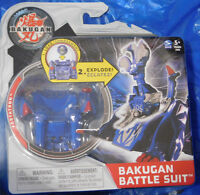 Bakugan Mechtanium Surge Blue Aquos Fortatron Battle Suit With Ability Card