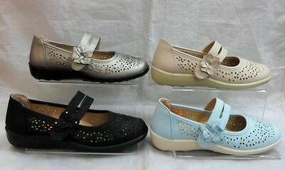 LADIES DR LIGHTFOOT COMFORT STRAP CUSHION WORK WEDGE SHOES,SIZES 3-8 7583