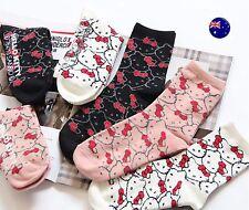 NEW 3 PAIRS Lady Women Girls Japan Hello Kitty Casual Cute Short warm Socks