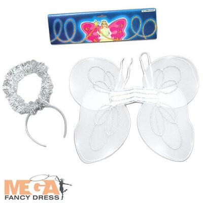 Caritatevole Angel Wings & Halo Childs Costume Natale Natività Bambini Bambine Costume Kit-mostra Il Titolo Originale