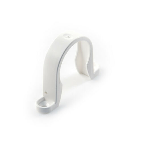 push fit drain DIY X2 plumbing waste 40mm WHITE water New Pipe Clip