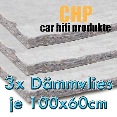 3x CHP Dämmvlies selbstklebend 3 Matten PKW Schalldämmung KFZ 10mm Vlies 1,8m²